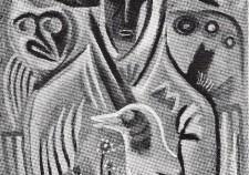 גלגולים - 1968 (טמפרה על קרטון 48-32)