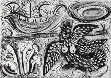 המסע הנצחי - 1967 (טמפרה וגואש על קרטון 30-40)
