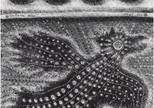 ציפור חשמלית -1966 ( טמפרה על קרטון53-44 )